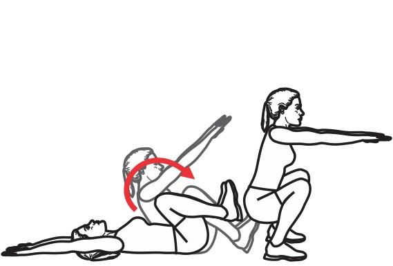 exercices: roulades sans les mains